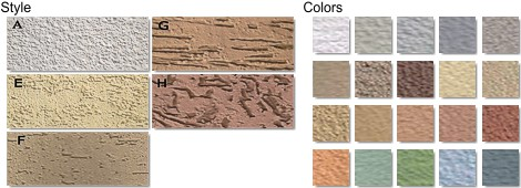 Real Home Exterior Wall Stucco Style and Colors